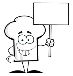 Chef Hat Guy Holding A Blank Sign vector image