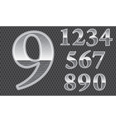 Glass numbers vector image vector image