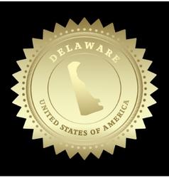 Gold star label Delaware vector image vector image
