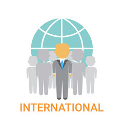 international businesspeople team cooperation vector image vector image