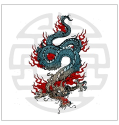 japanese dragon tattoo vector image vector image