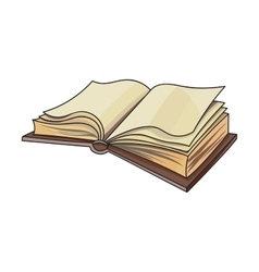 Open book on white background vector image