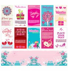 valentins day cards templates vector image vector image