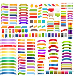 big colorful ribbons set vector image vector image