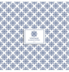 blue and white geometric pattern vector image
