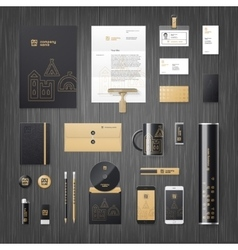 Corporate identity for real estate vector image vector image