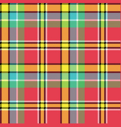 madras fabric texture square pixel seamless vector image vector image
