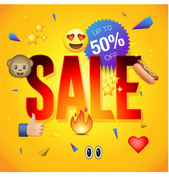 sale poster or flyer design vector image