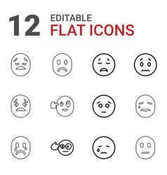 12 depression icons vector