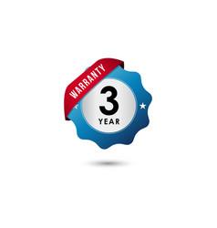 3 year warranty template design vector