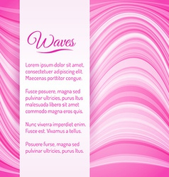 Abstract Light Pink Waves Background vector image