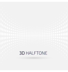 Abstract perspective background with halftone vector