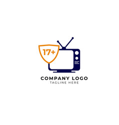 Adult tv broadcasts logo icon vector