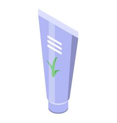 Aloe cream tube icon isometric style vector