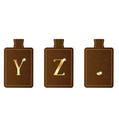 Alphabet keyring and fob yz period vector