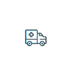 ambulance icon design transportation icon design vector image