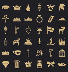amulet icons set simple style vector image