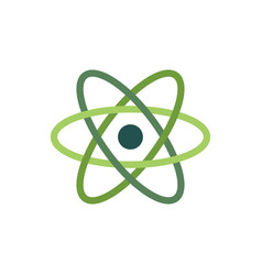 atom icon symbolisolated on white flat vector image