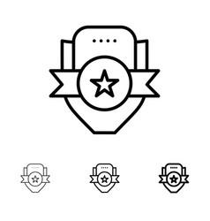 badge club emblem shield sport bold and thin vector image