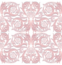 Baroque luxury ornament pattern vector