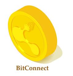 bitconnect icon isometric style vector image