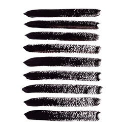 Black acrylic brush strokes vector image