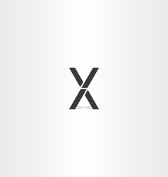 black letter x and v logo sign vector image