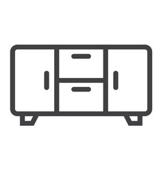 Buffet line icon furniture and interior vector