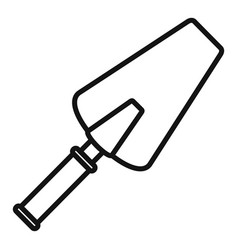 cement trowel icon outline style vector image