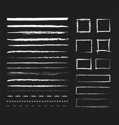 chalk graphic elements vector image
