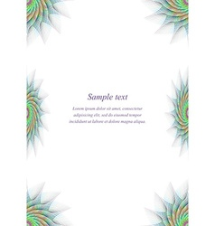 Colorful page border design template vector image