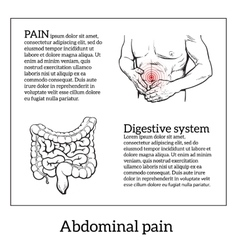 Concept of health problems stomach illness vector