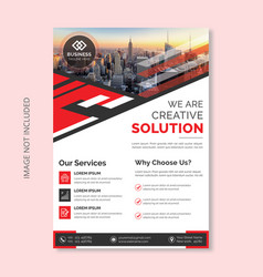 corporate business flyer vector image