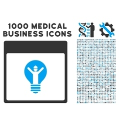 Electrician Calendar Page Icon With 1000 Medical vector