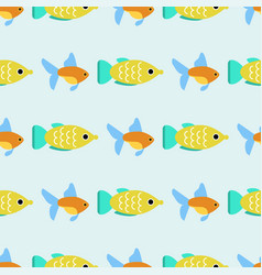 Exotic tropical fish race seamless pattern vector