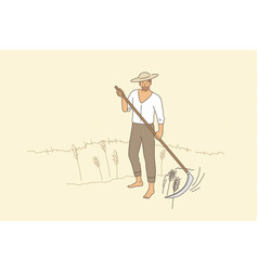 Farming and rural agriculture concept vector