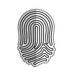Finger print icon vector
