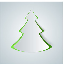 Fir-tree paper icon vector