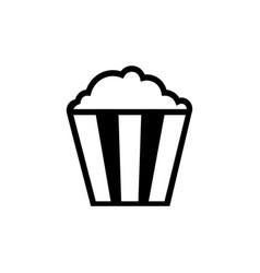 Flat line popcorn icon vector