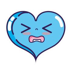 Gaudy heart love kawaii cartoon vector