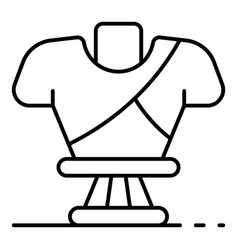 Greek sculpture icon outline style vector