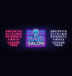 hair salon sign design template hairdress vector image