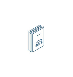 Holy bible book isometric icon 3d line art vector