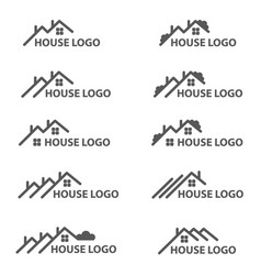 House logo set vector
