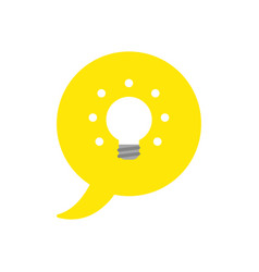 Icon concept of speech bubble with glowing light vector