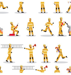 image pattern groups firefighter at work vector image