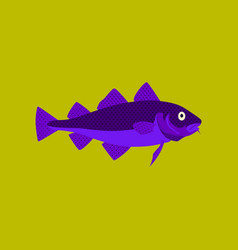 in flat style cod vector image