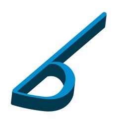 Isometric flat key signature musical note vector