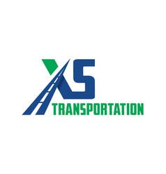 Letter xs road transportation logo vector
