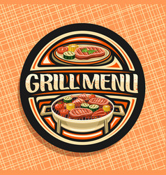 Logo for grill menu vector